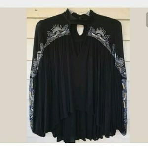 NEW FREE PEOPLE HTF SWEET ESCAPES embellished top